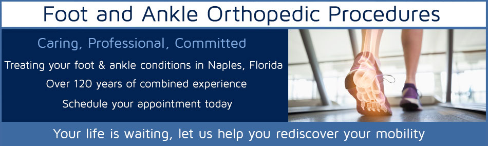 Text Graphic that says: Foot and Orthopedic Procedures | Neuroscience and Spine Associates